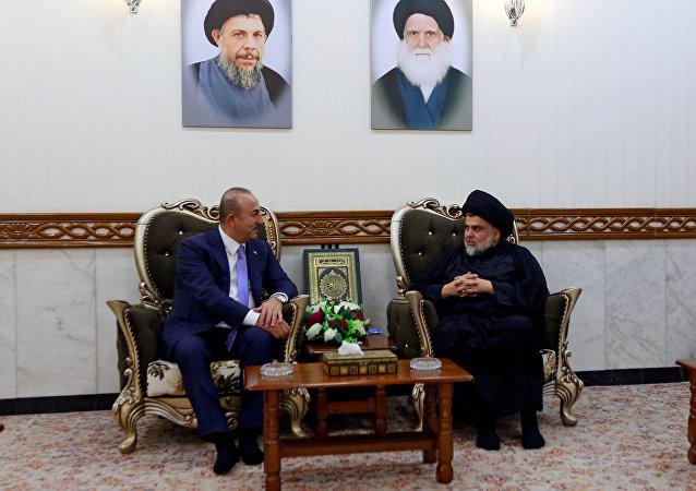 أوغلو يبحث مع الصدر الأوضاع في العراق والمنطقة