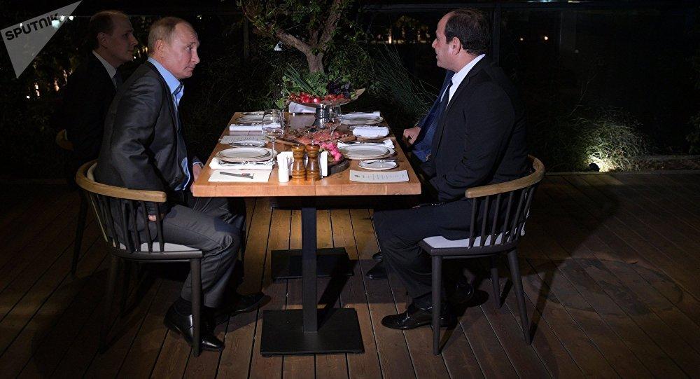 الرئيس الروسي فلاديمير بوتين يلتقي مع نظيره المصري عبدالفتاح السيسي في سوتشي، 16 أكتوبر/ تشرين الأول 2018