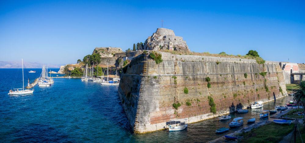 القلعة القديمة في مدينة كرفو، اليونان