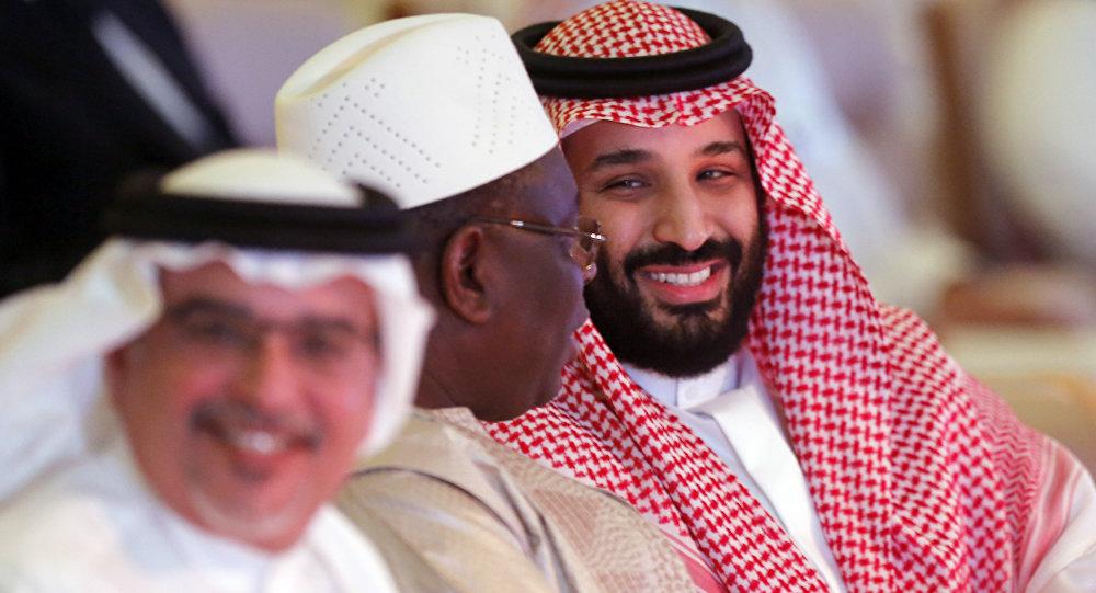 ولي العهد السعودي محمد بن سلمان في مؤتمر مبادرة الاستثمار المستقبلي في الرياض، 24 أكتوبر/ تشرين الأول 2018