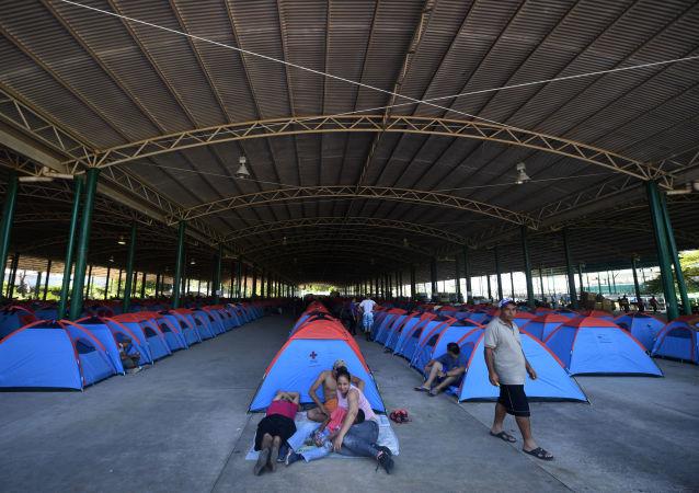 قافلة من المهاجرين  من المكسيك، يتجهون إلى حدود الولايات المتحدة الأمريكية 22 أكتوبر/ تشرين الأول 2018