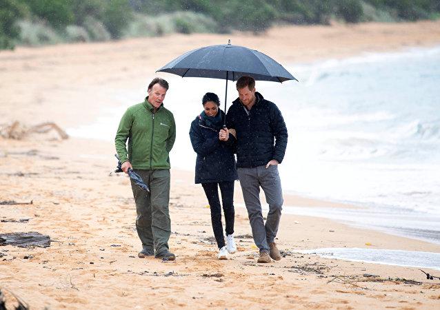 الأمير البريطاني هاري وزوجته ميغان ماركل في نيوزيلندا