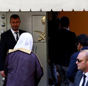 المدعي العام السعودي سعود المعجب يدخل القنصلية السعودية في اسطنبول، تركيا 30 أكتوبر/ تشرين الأول 2018