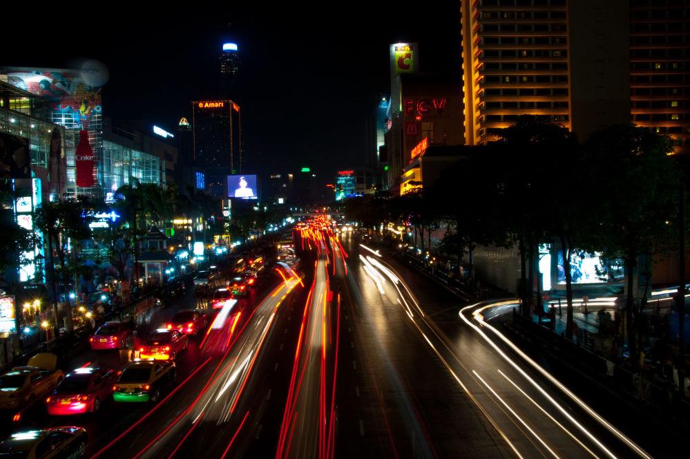 أزمة سير في مدينة بانكوك، تايلاند