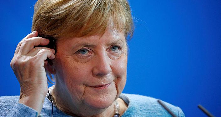 المستشارة الألمانية أنجيلا ميركل في برلين، ألمانيا 30 أكتوبر/ تشرين الأول 2018