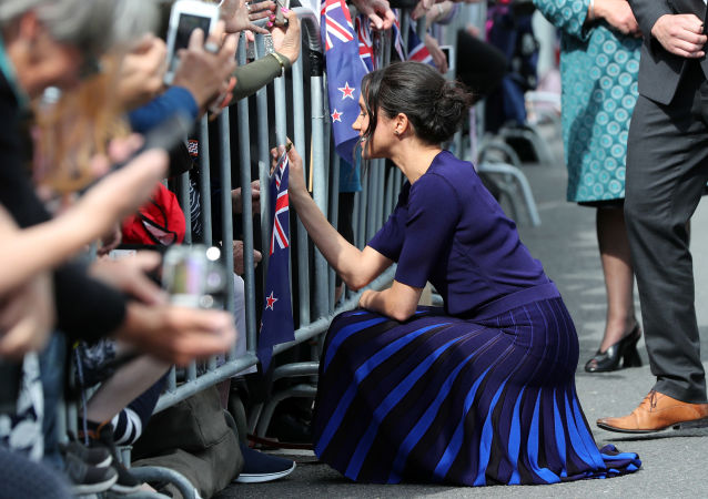 دوقة ساسكس ميغان ماركل خلال زيارة رسمية إلى نيوزيلندا، 31 أكتوبر/ تشرين الأول 2018