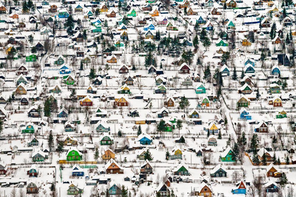 صورة بعنوان Toy Houses، للمصور فيودور سافيتسين، الحاصل على المرتبة الأولى في فئة الهندسة المعمارية مساحات حضارية