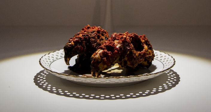 طبق صيني - رؤوس أرانب بالبهارات الحارة