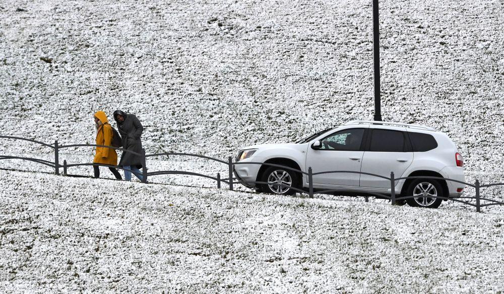 سقوط الثلج الأول لهذا العام في قازان الروسية