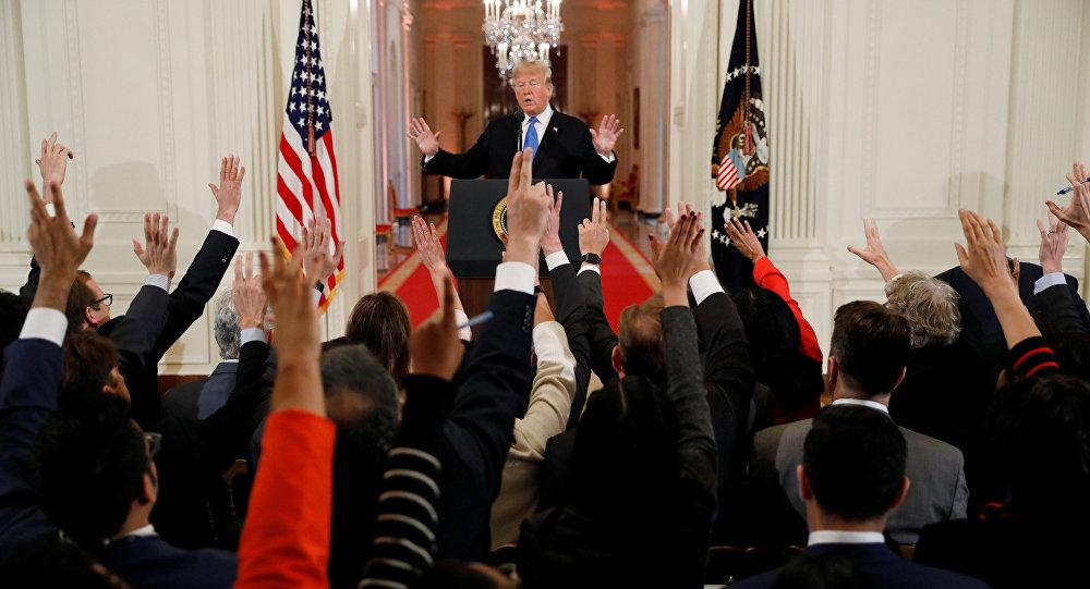 الرئيس ترامب في مؤتمر صحفي عقب إعلان نتائج انتخابات الكونغرس