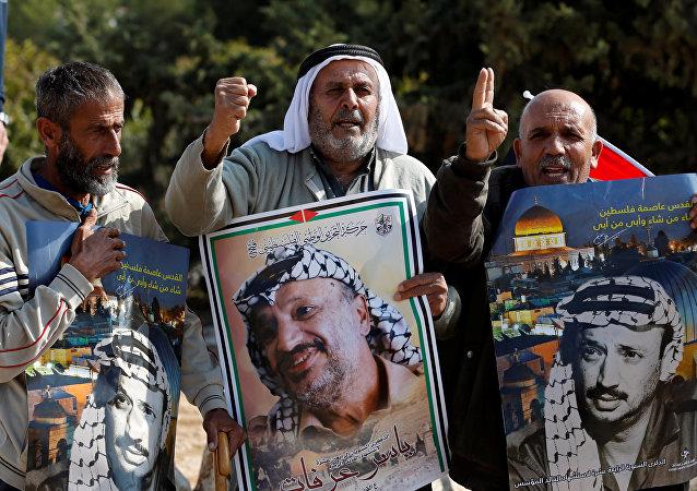 إحياء الذكرى الرابعة عشرة لوفاة الرئيس الفلسطيني ياسر عرفات