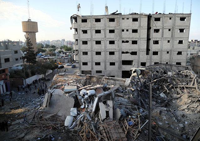 آثار القصف الإسرائيلي على غزة