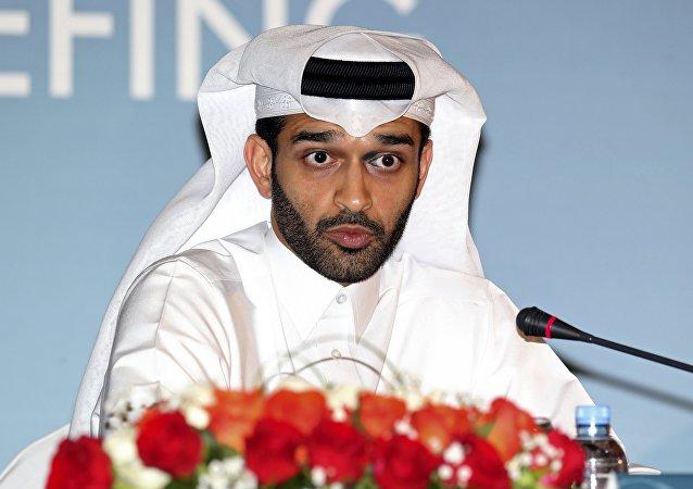 حسن الذوادي رئيس اللجنة المنظمة لكأس العالم لكرة القدم في قطر 2022