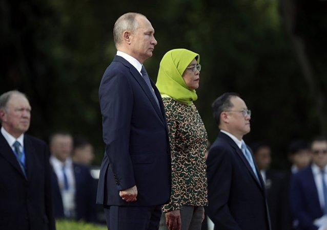 زيارة الرئيس فلاديمير بوتين إلى سنغافورة، 13 نوفمبر/ تشرين الثاني 2018