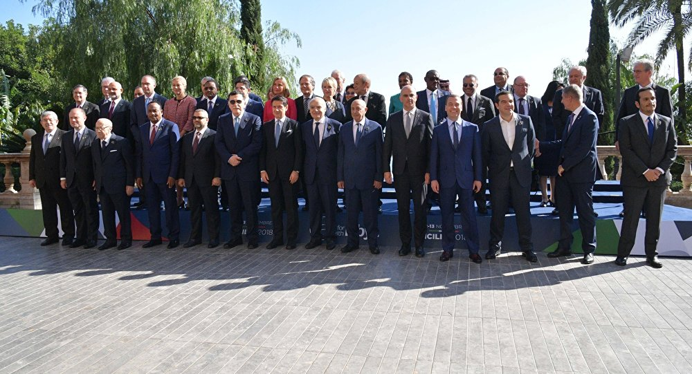قادة العالم يحضرون مؤتمر باليرمو الدولي لمناقشة الوضع في ليبيا، إيطاليا 13 نوفمبر/ تشرين الثاني 2018