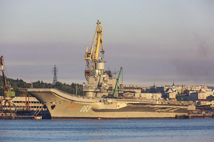 حاملة الطائرات الروسية تخضع للعملية التحديثية