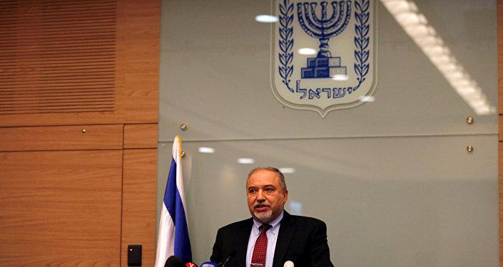 وزير الدفاع الإسرائيلي، أفيغدور ليبرمان، 14 نوفمبر/ تشرين الثاني 2018