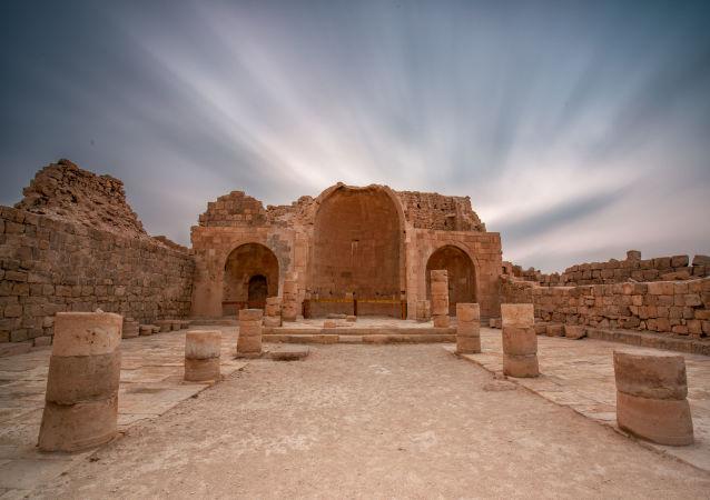 آثار كنيسة في شبطا. إسرائيل