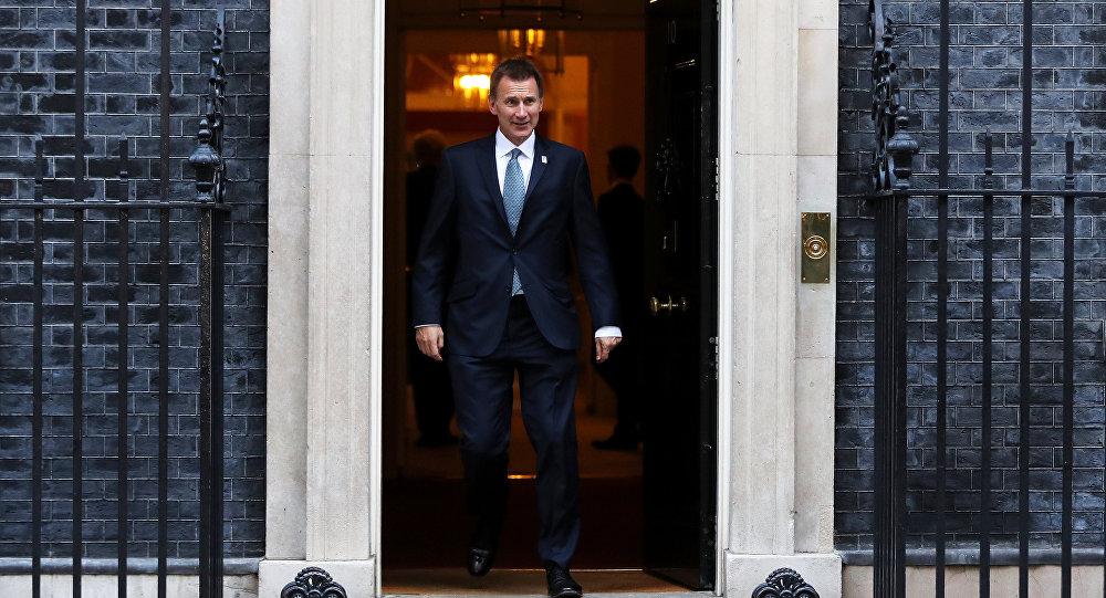 وزير الخارجية البريطاني جيرمي هانت