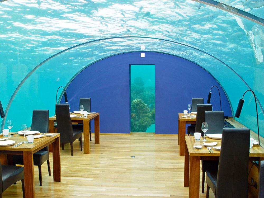 مطعم تحت الماء في فندق Conrad Maldives Rangali Island، جزر المالديف