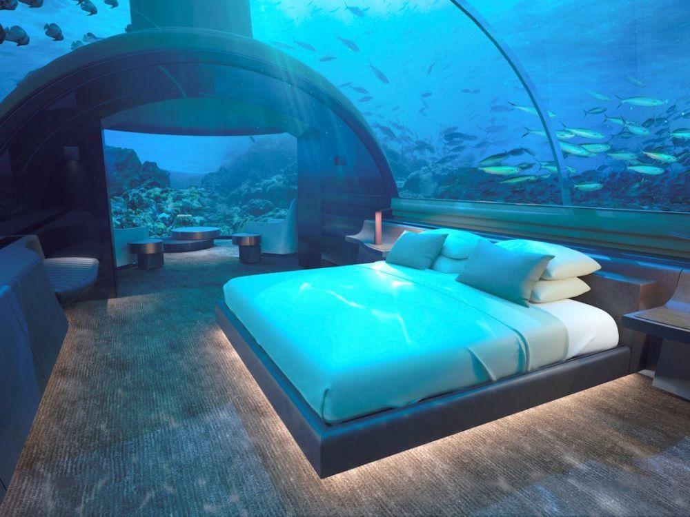 جناح غرفة النوم في فندق Conrad Maldives Rangali Island