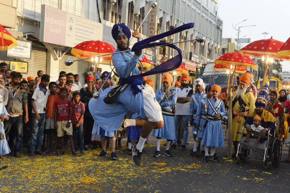 حفل ناغار كيرتان (موكب مقدس) في، الهند 21 نوفمبر/ شترين الثاني 2018