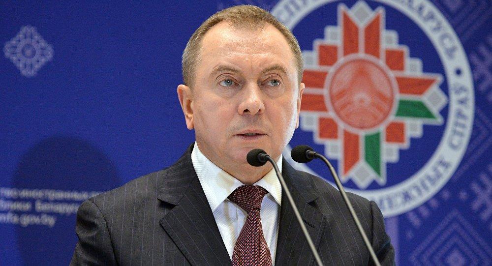 وزير الخارجية البيلاروسي فلاديمير ماكي في مينسك