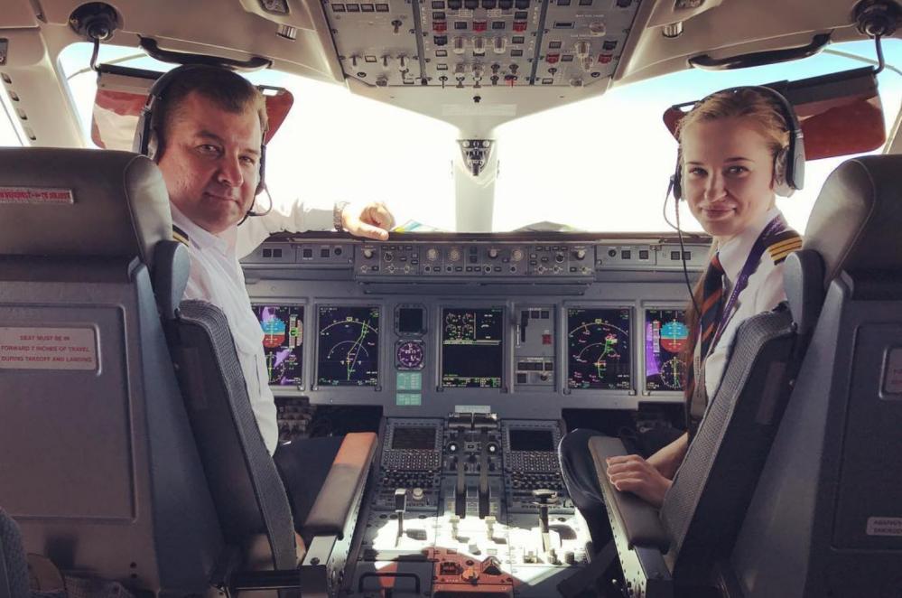 أصغر امرأة طيار في شركة الطيران آيروفلوت الروسية ماريا فيدوروفا