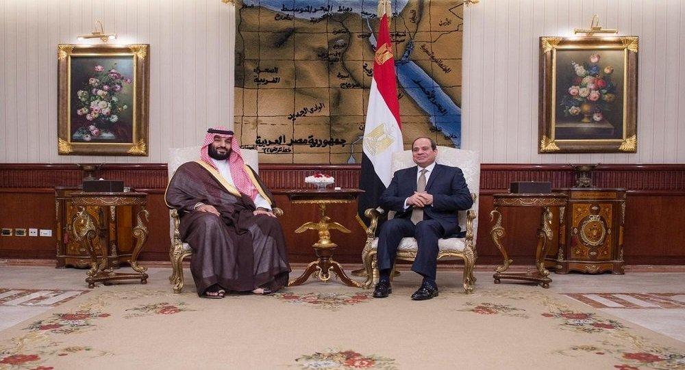 الرئيس المصري عبد الفتاح السيسي يستقبل ولي العهد السعودي الأمير محمد بن سلمان