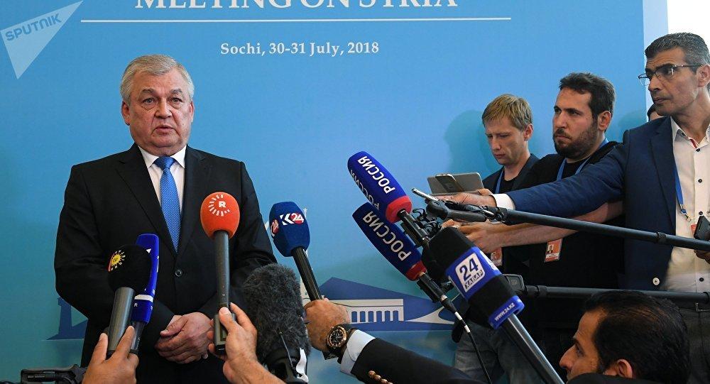 مبعوث الرئيس الروسي إلى سوريا ألكسندر لافرينتيف