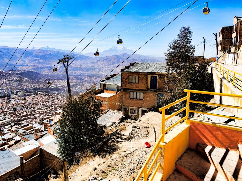 تلفريك الخط الأصفر في بوليفيا