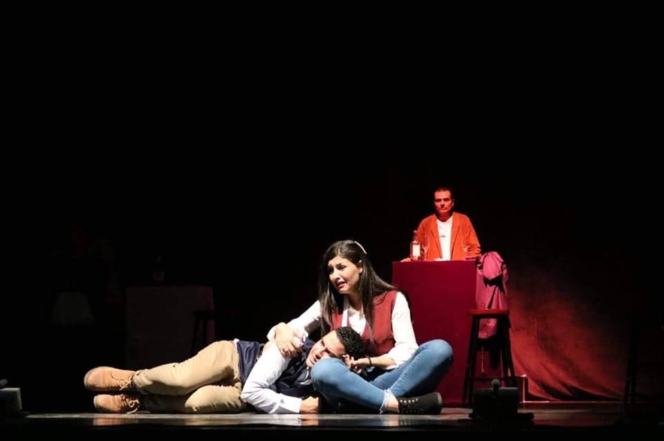 مشهد من مسرحية مأساة ليلى