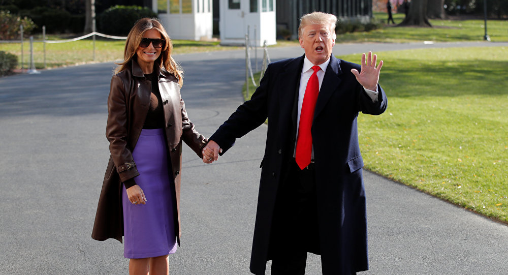 الرئيس الأمريكي ترامب يغادر إلى قمة مجموعة العشرين في الأرجنتين من البيت الأبيض في واشنطن