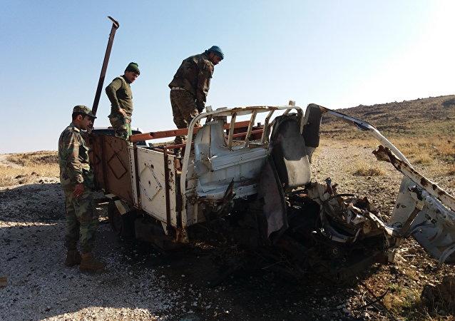 الجيش السوري يفجر سيارة مفخخة قرب الجولان المحتل