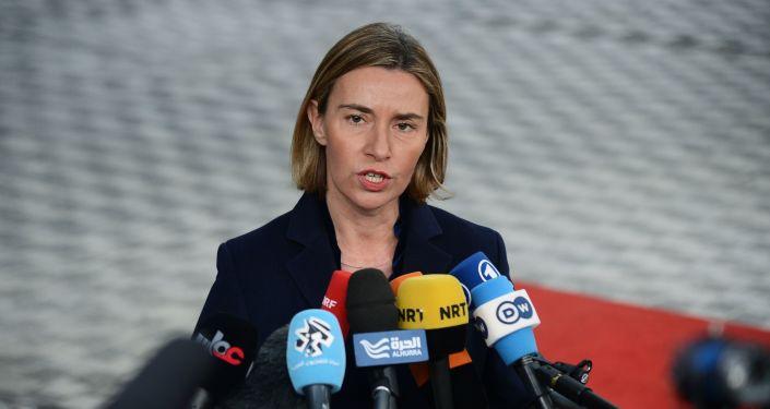 مفوضة الشؤون الخارجية في الاتحاد الأوروبي، فيديريكا موغريني