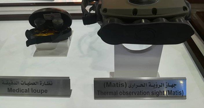 أجهزة مراقبة تنتجها الشركة العربية للبصريات في معرض إيديكس 2018 في مصر
