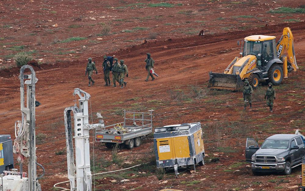 الجيش الإسرائيلي خلال عملية درع الشمال