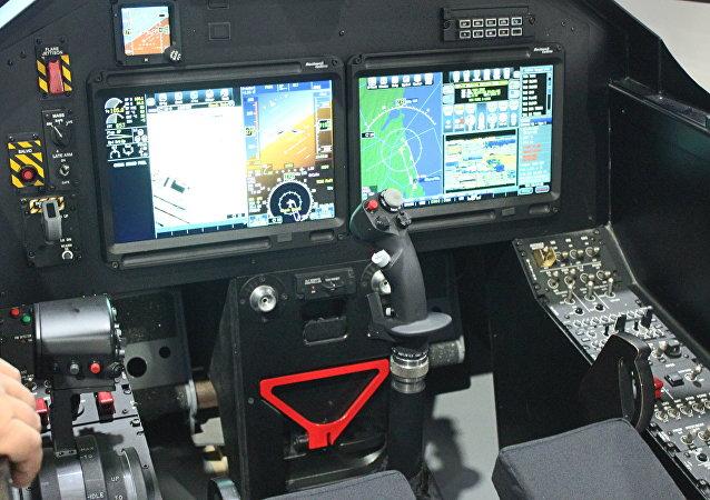نموذج قمرة قيادة  الطائرة الإماراتية بي 250