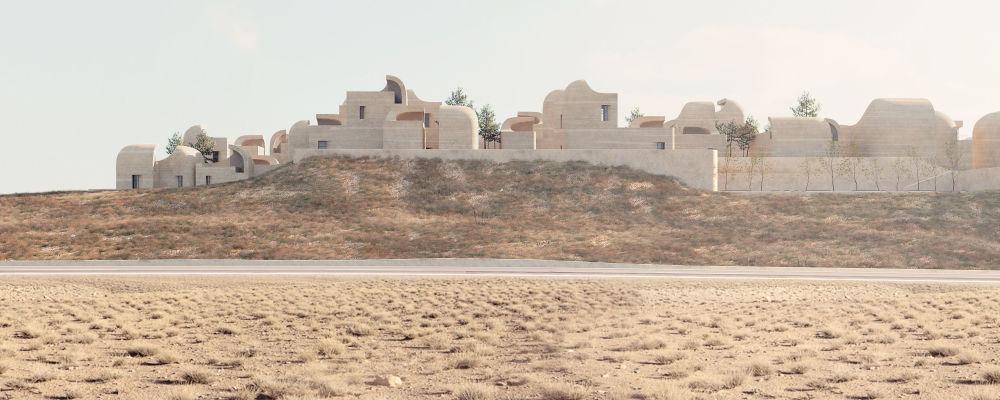 مشروع معماري لمركز Sadra Civic Center في إيران، الذي فاز في فئة مشروع المستقبل للأعمال الهندسية المشاركة في المنافسة
