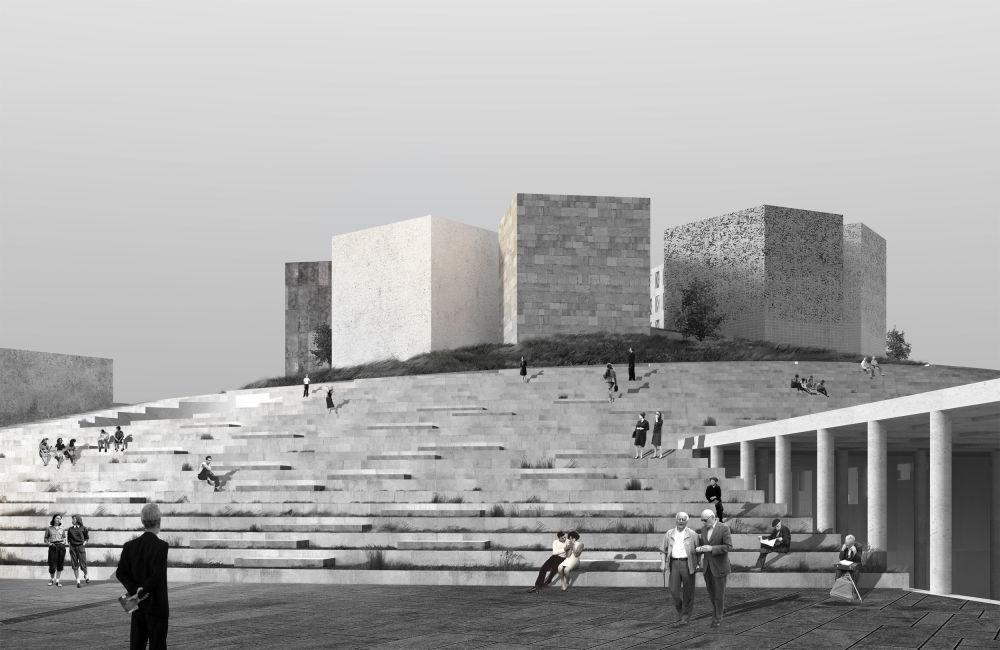 مشروع معماري لـ متحف حصار لينينغراد في سان بطرسبورغ، الذي فاز في فئة مشروع المستقبل الثقافي