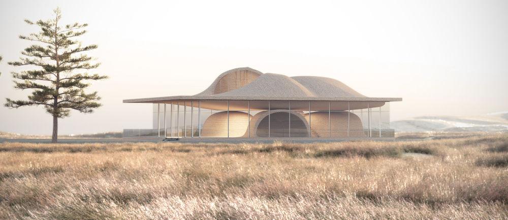 مشروع معماري لمنزل لشركة Guyim Vault House في إيران، الذي فاز في فئة مشروع المستقبل لمنزل