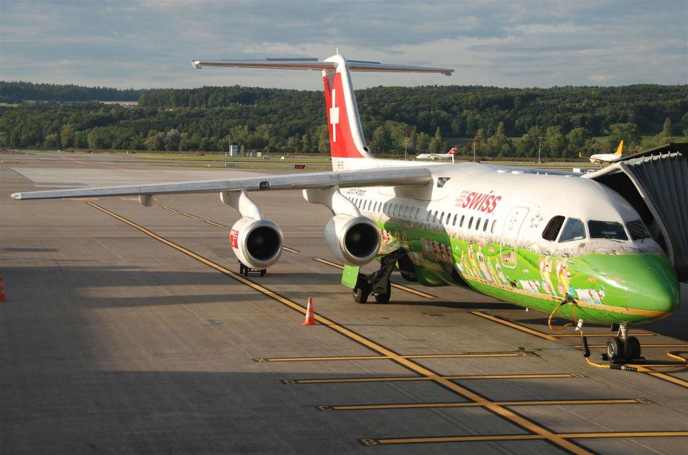 طائرات لشركة الطيران Swiss International Air Lines السويسرية