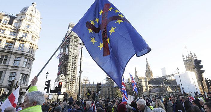 الخروج من الاتحاد الأوروبي - بريكسيت - لندن، إنجلترا، بريطانيا 9 ديسمبر/ كانون الأول 2018