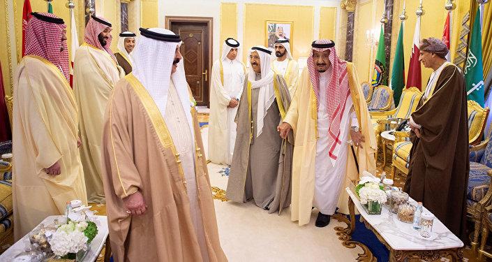 زعماء دول مجلس التعاون الخليجي أثناء القمة الخليجية في الرياض