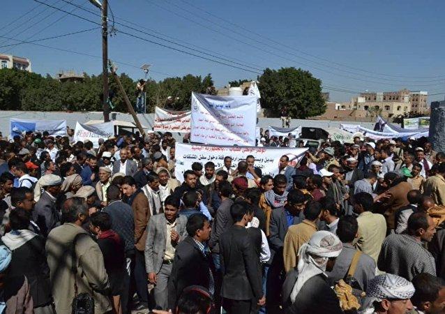 مسيرات ضد التحالف في صنعاء