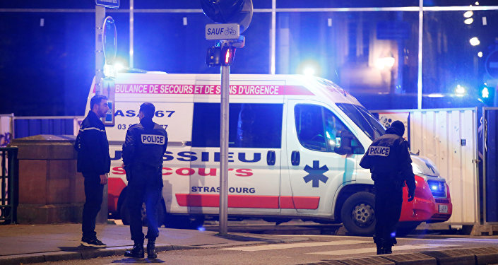الشرطة الفرنسية في مدينة ستراسبورج بعد حادث إطلاق النار