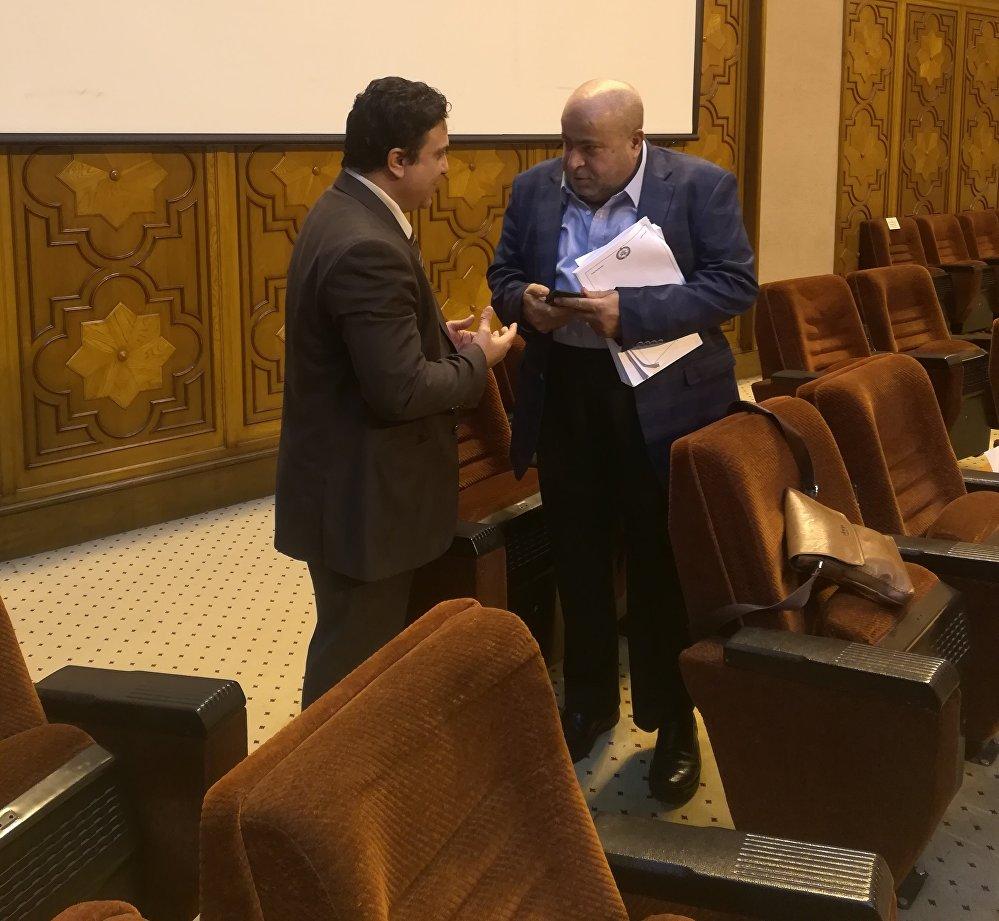 النائب الأردني خليل العطية مع مراسل سبوتنيك