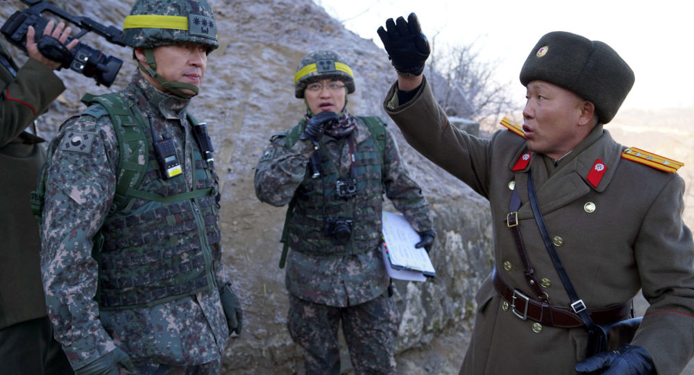 الحدود بين كوريا الجنوبية و كوريا الشمالية - الجنود - الجيش الكوري الجنوبي والشمالي، 12 ديسمبر/ كانون الأول 2018