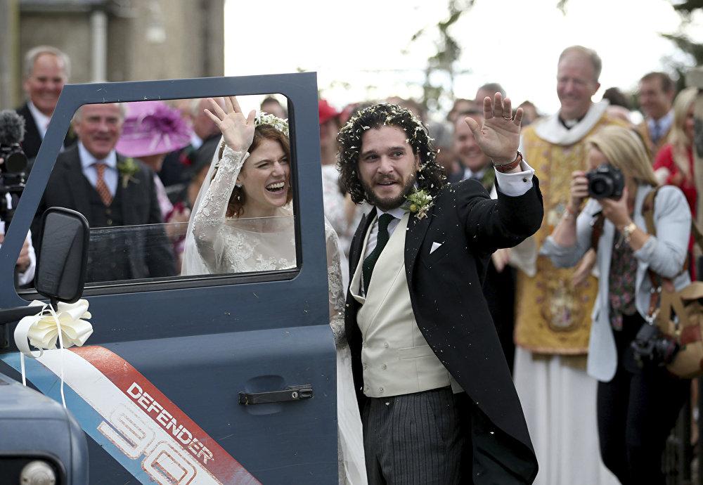 زفاف بطلا صراع العروش كيت هارينغتون و روز ليزلي