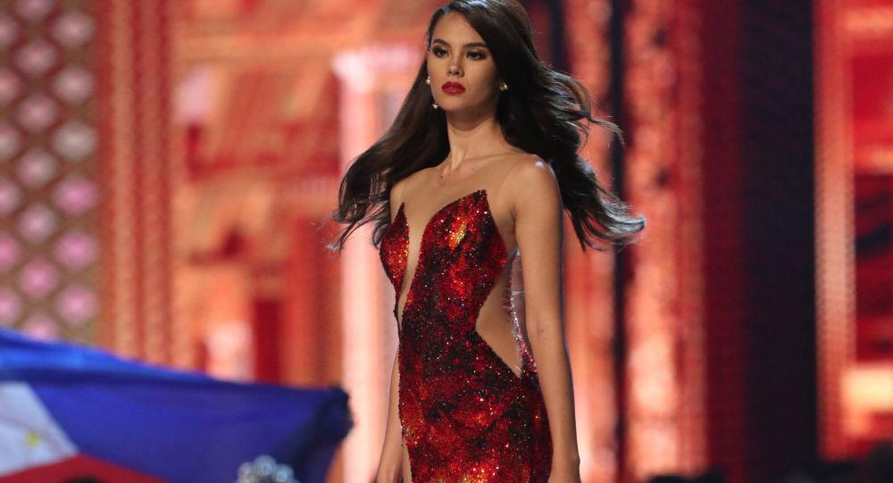 الفائزة بلقب ملكة جمال الكون 2018 - الفلبينية كاتريونا غراي، في بانكوك، تايلاند 17 ديسمبر/ كانون الأول 2018
